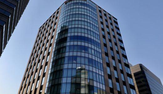 竣工した、大和ビルー松本林業の新オフィスビルの状況 20.03