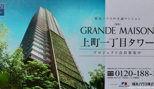 (仮称)グランドメゾン上町一丁目タワープロジェクト 建設工事の状況 20.09【2023年1月竣工】