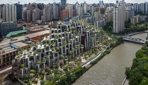 上海「1000 Trees」が完成間近。ヘザーウィック・スタジオが手がけた、木々に覆われた山のような姿の複合ビル