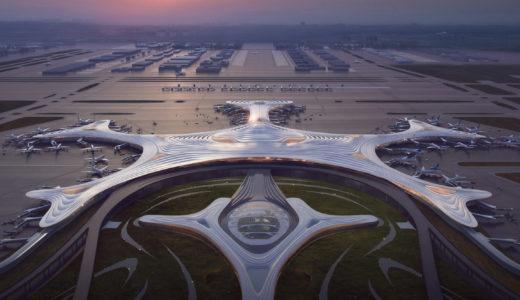 MADアーキテクトが中国・ハルビン空港第3ターミナル「雪の結晶型」デザインを提案