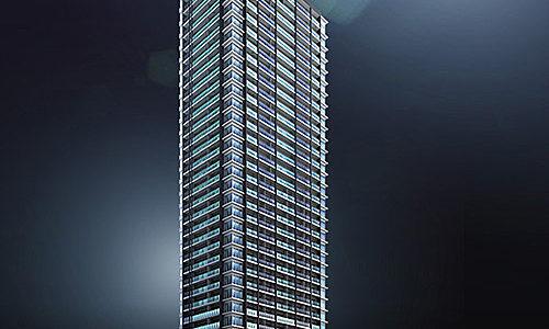 ジオタワー南森町(仮称)大阪市北区東天満2丁目計画の建設状況 20.04【2021年03月竣工】