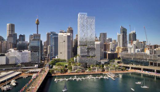コックルベイパーク(Cockle Bay Park)ヘニングラーセンが提案するシドニーのウォーターフロントの超高層ビル