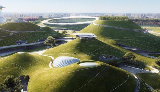 中国・浙江省衢州市の曲州スポーツキャンパス(Quzhou Sports Campus)はMADが手がけたSFの様な運動公園