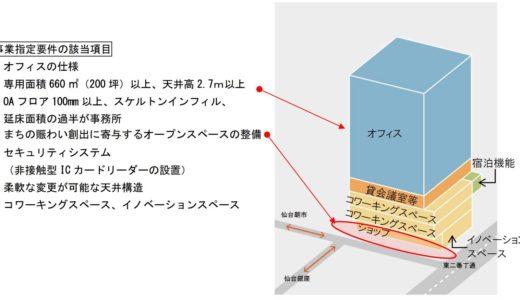 仙台市「都心再構築プロジェクト」第1号はNTT仙台中央ビル(仮称)【2023年度竣工】