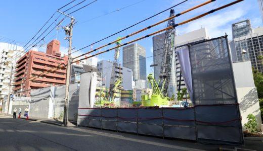 堂島二丁目特定街区、旧・電通大阪ビルの解体工事の状況 20.07【2024年09月竣工予定】