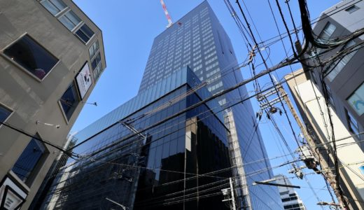 W OSAKA(W大阪)マリオットと積水ハウスが御堂筋沿いに建設中のWホテルの状況 20.04【2020年10月竣工】