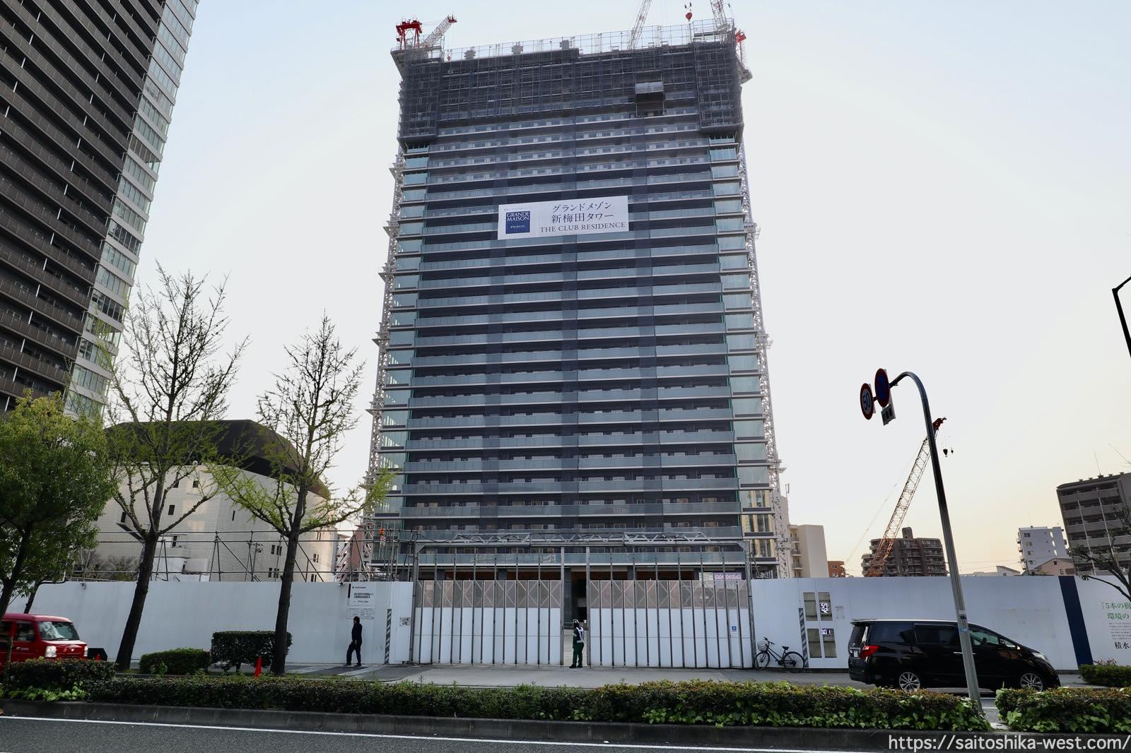 グランドメゾン新梅田タワー THE CLUB RESIDENCEの建設状況 21.03