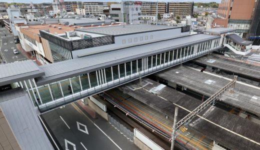 大和西大寺駅の南北自由通路が部分開通!(駅舎外観・自由通路編)