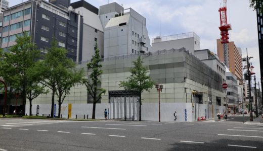 (仮称)御堂筋安土町ビル建替計画の状況【2023年3月竣工】