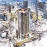 アパホテル&リゾート〈梅田駅タワー〉建設工事の状況 21.02【2022年末開業予定】