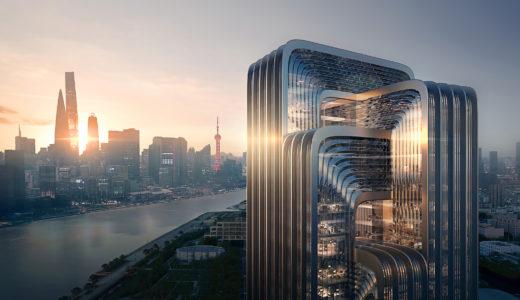 Zaha Hadidが「上海で最も環境に配慮した建物」を計画、中国省エネルギー環境保護グループ(CECEP)新上海本部