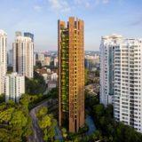 EDEN Singaporeはヘザーウィックとスワイヤー・プロパティーズが共同で設計したオーガニックな超高層ビル