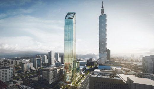 台北スカイタワー(TAIPEI SKY TOWER)は「竹」とギリシャ神殿の「柱」に着想を得たデザイン