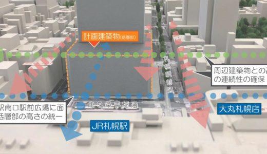 (仮称)札幌駅南口北4西3地区再開発の計画段階環境配慮書が公開!A案高層部は高さ240m