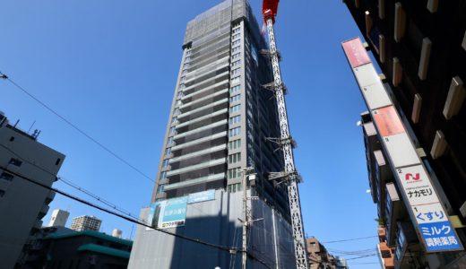 ピアッツァタワー上本町EAST 建設工事の状況 20.10【2021年6月竣工】