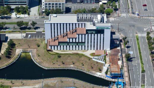 竣工した 森ノ宮医療大学新棟「さくらポート」の状況 21.08