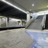 静まりかえった ユニバーサルシティ駅