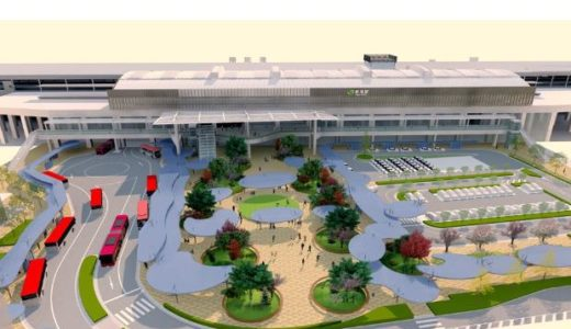 新潟駅『万代広場整備計画』は「新潟市8区の水と緑のつながり」をテーマにしたデザイン【2023年度頃完成予定】