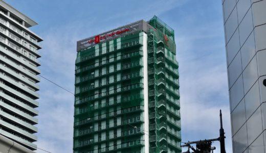 (仮称)ユニゾインエクスプレス大阪南本町の建設工事の状況 20.08【2020年12月竣工】