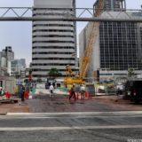 堂島二丁目特定街区、旧・電通大阪ビルの解体工事の状況 20.10【2024年09月竣工予定】