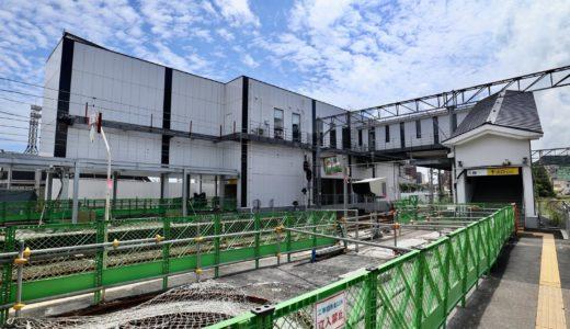 JR鹿児島駅新駅舎と自由通路建設工事の状況 20.08