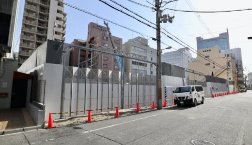 (仮称)西区江戸堀一丁目計画 京阪不動産のタワーマンションの状況 21.04【2024年3月竣工】