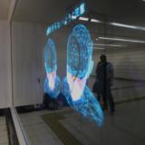 JR西日本コミュニケーションズが大阪駅桜橋口地下通路で『3D Phantom』(スリーディー ファントム)を用いた実証実験を開始