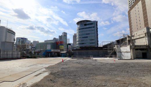 三宮ターミナルビル解体工事の状況 21.01 期間限定のアウトドアホール 「ストリートテーブル三ノ宮」が開業!跡地の一部を暫定活用