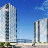 ベイシティタワーズ神戸 WEST/EAST 新港突堤西地区(第1突堤基部)再開発事業5・8工区の建設状況 21.01