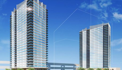 ベイシティタワーズ神戸 WEST/EAST 新港突堤西地区(第1突堤基部)再開発事業5・8工区の建設状況 21.04