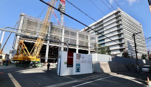 NTT西日本新本社ビル(大阪研修センタ3期)の建設状況 20.12
