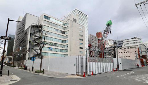 (仮称)大阪市中央区南本町2丁目集合住宅新築工事の状況 20.12【2023年3月竣工】