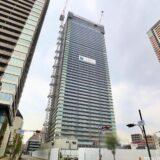 グランドメゾン新梅田タワー THE CLUB RESIDENCEの建設状況 21.02