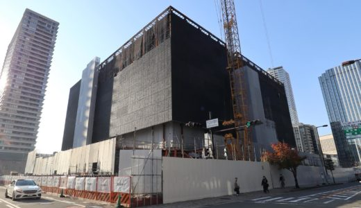 大阪中之島美術館・Nakanoshima Museum of Art, Osakaの建設状況 20.11【2021年度開館予定】