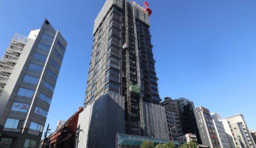 ザ・ファインタワー大手前((仮称)大阪市中央区谷町2丁目PRJ)の建設状況 20.12【2021年10月竣工】