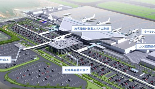 広島空港のコンセッション(運営民間委託)、30路線、年間旅客数586万人目標、三井不動産を代表企業とする「MTHSコンソーシアム」が基本協定書を締結