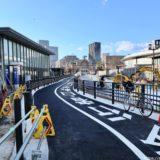 中之島通の歩行者空間化(公園化)整備工事の状況 21.01【2021年3月末まで】