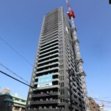 ピアッツァタワー上本町EAST 建設工事の状況 21.01【2021年6月竣工】
