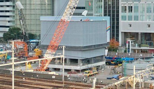 大阪中央郵便局「旧局舎の保存箇所」の曳家が完了!トランスポーターを使って方向転換