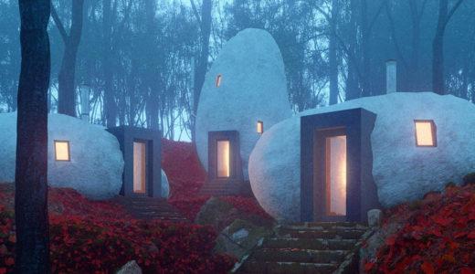 モスクワで構想されてる天然石で作られたドルメン(支石墓)シェルターが幻想的!
