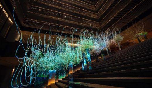 京阪のフラッグシップホテル「ザ・サウザンド キョウト」がNAKEDとコラボ、華道家元池坊を迎えたプロジェクションマッピング「風花雪月」を開催中!