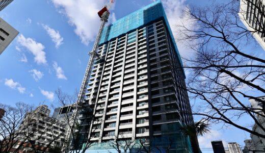 シティタワー大阪本町 建設工事の状況 21.02【2021年11月竣工予定】