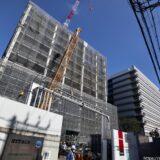 NTT西日本新本社ビル(大阪研修センタ3期)の建設状況 21.01