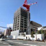 関西医科大学タワー棟新築工事の状況 21.01【2021年9月竣工】