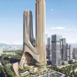 ザハ・ハディド・アーキテクツが中国・深圳市の「深センベイ・スーパー・ヘッドクォーター・ベース Cタワー(Tower C at Shenzhen Bay Super Headquarters Base)」コンセプトデザインを公開!