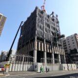 大阪厚生信用金庫新本店ビル 建設工事の状況 21.02【2021年9月竣工】