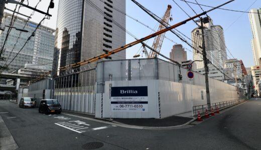 堂島二丁目特定街区、旧・電通大阪ビルの解体工事の状況 21.02【2024年09月竣工予定】