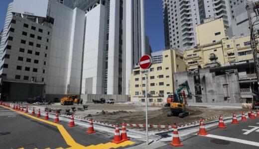 (仮称)大阪市北区梅田2丁目4−2開発 桜橋ボウルの建替え計画の状況 21.04【再開発の卵】