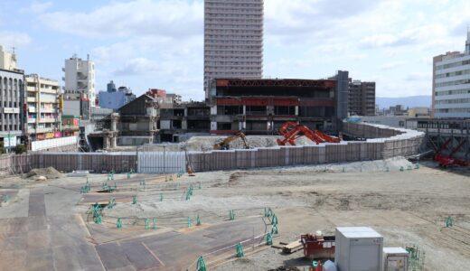 イオン京橋店(旧ダイエー)解体工事の状況 21.03