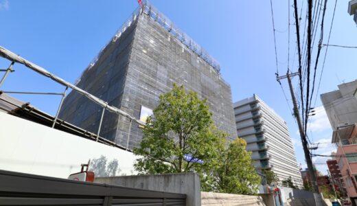 NTT西日本新本社ビル(大阪研修センタ3期)の建設状況 21.03